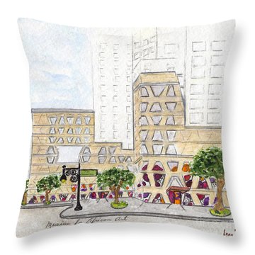 The African Center Throw Pillow