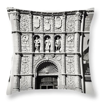 Museum Of Art San Diego Throw Pillow by Christine Till