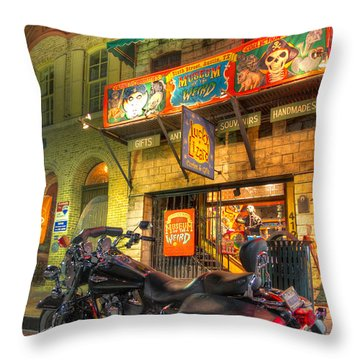 Museum Of The Weird Throw Pillow by Tim Stanley