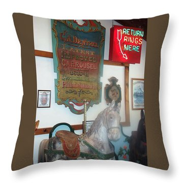 Throw Pillow featuring the photograph Museum Pieces by Barbara McDevitt