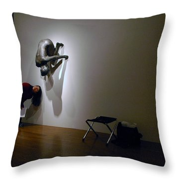 Museum Study Throw Pillow