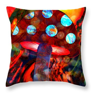 Mushroom Delight Throw Pillow