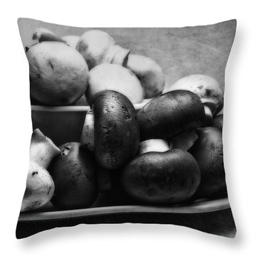 Mushroom Still Life Throw Pillow