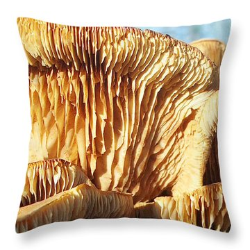 Mushrooms By Jan Marvin Throw Pillow
