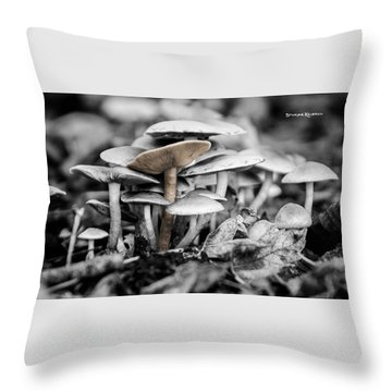 Throw Pillow featuring the photograph Mushrooms by Stwayne Keubrick