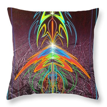 Throw Pillow featuring the painting Music @ #11 by Alan Johnson