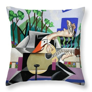 Music A Gift From The Holy Spirit Throw Pillow by Anthony Falbo