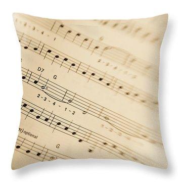 Music Throw Pillow by Alexey Stiop