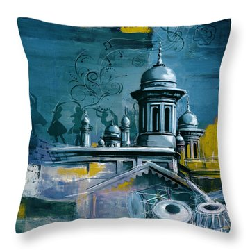 Music And Heritage Throw Pillow by Catf