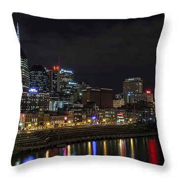 Music And Lights Throw Pillow