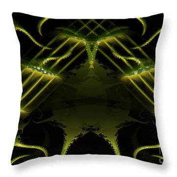 Throw Pillow featuring the digital art Music Around The World by Melissa Messick