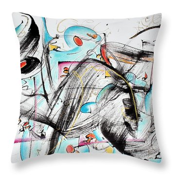 Music Throw Pillow by Asha Carolyn Young