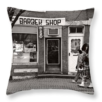 Music - Bag Piper - Somerville Nj -  The Scottsman Throw Pillow by Mike Savad