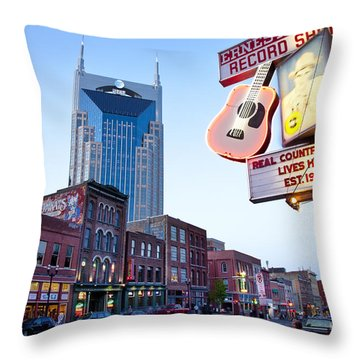 Music City Usa Throw Pillow
