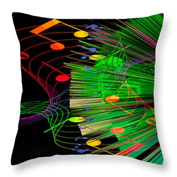 Music Colors The World 3 Throw Pillow by Angelina Vick
