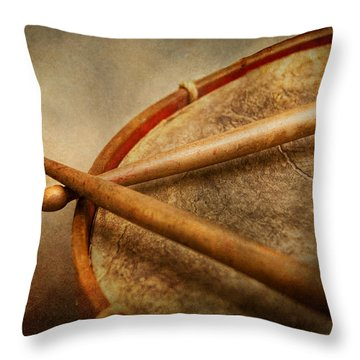 Music - Drum - Cadence  Throw Pillow by Mike Savad