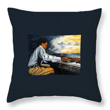 Throw Pillow featuring the painting Music by Emery Franklin