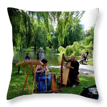 Music In The  Public Garden  Throw Pillow