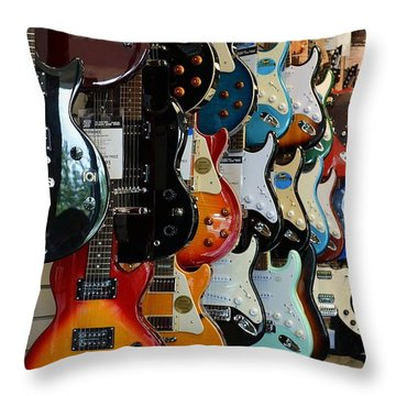 Throw Pillow featuring the photograph Music In Waiting by Mary Zeman