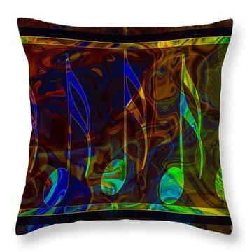Music Is Magical Abstract Healing Art Throw Pillow