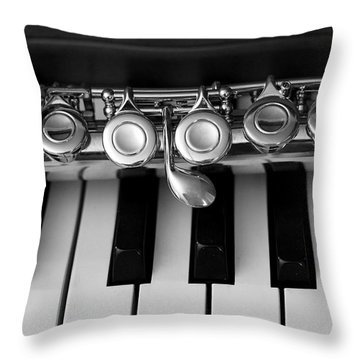 Music Lesson Throw Pillow by Mary Bedy