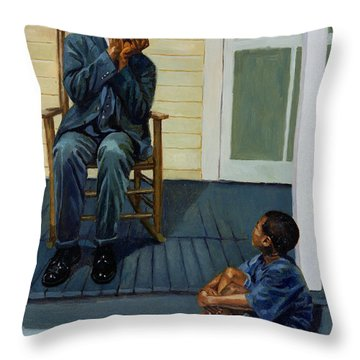 Music Lesson Number 1 Throw Pillow