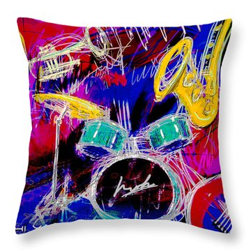 Music Medley Throw Pillow