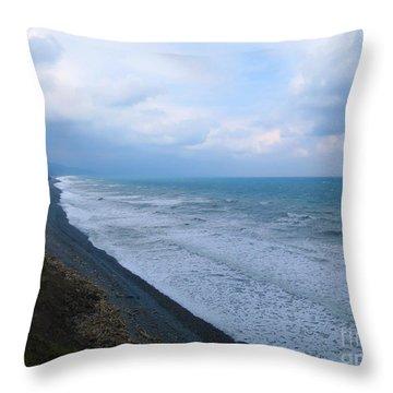 Music Ocean Throw Pillow