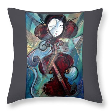 Music Of My Life Throw Pillow