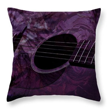 Music Of The Roses Throw Pillow by Barbara St Jean