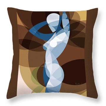 Music Of The Spheres #9 Throw Pillow by Peyablo