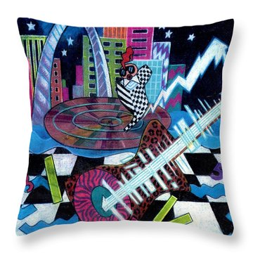 Music On The River Stl Style Throw Pillow