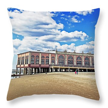 Music Pier Throw Pillow by Tom Gari Gallery-Three-Photography