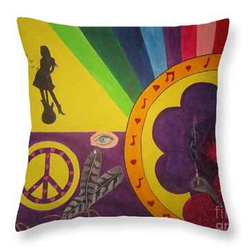 Music Remains Throw Pillow