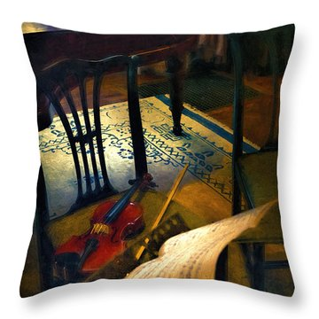 Music Rest Throw Pillow