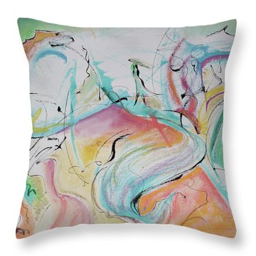 Music Spirits At Play In Brazil Throw Pillow