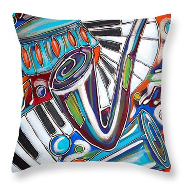 Music Time 2 Throw Pillow