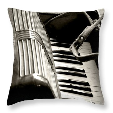 Music Time Throw Pillow by Rebecca Davis
