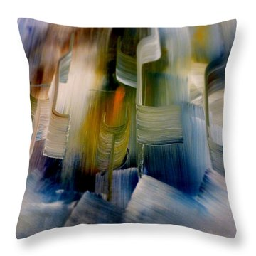 Music With Paint Throw Pillow by Lisa Kaiser