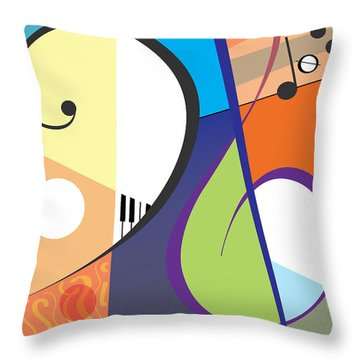 Musica Throw Pillow