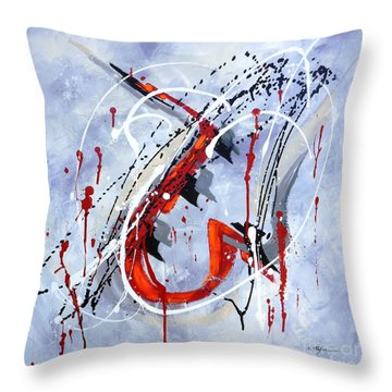 Musical Abstract 005 Throw Pillow