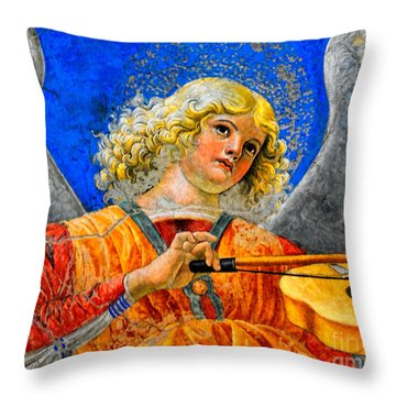 Musical Angel Basking In The Light Of Heaven 2 Throw Pillow