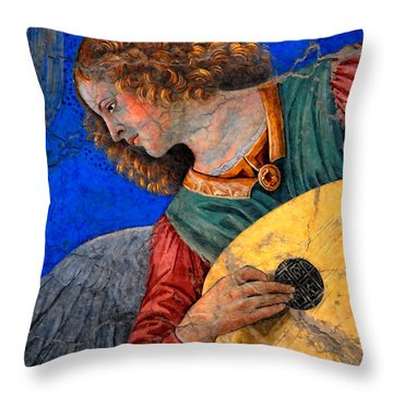 Musical Angel Basking In The Light Of Heaven 3 Throw Pillow