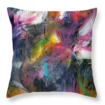 Musical Flow Throw Pillow