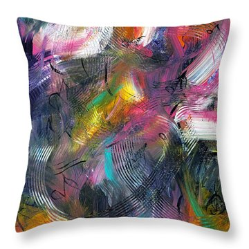 Musical Flow Throw Pillow