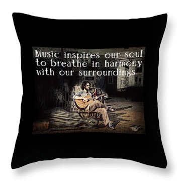 Musical Inspiration Throw Pillow by Melanie Lankford Photography