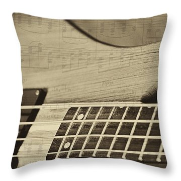 Musical Majesty Throw Pillow