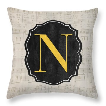 Musical Monogram Throw Pillow
