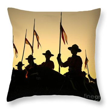 Musical Ride Throw Pillow
