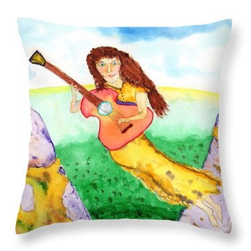 Musical Spirit 11 Throw Pillow